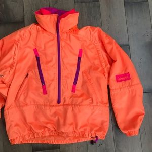 Vintage Obermeyer Neon Ski Jacket Snow Full Zip M